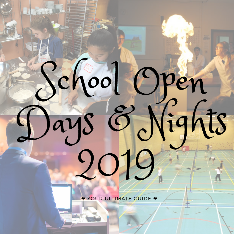 School Open Days & Nights 14th – 19th January